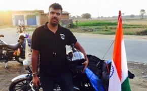 Biker Sells  Off Motorcycle, Reaches Nepal To Help Quake Victims