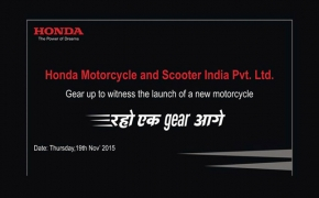 Official- Honda Set To Launch Another Motorcycle On Nov 19th
