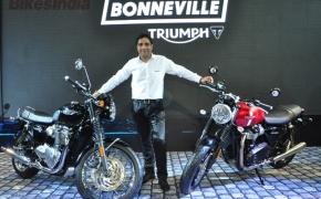 Triumph Unveils Next Generation Bonneville Motorcycles At Auto Expo 2016