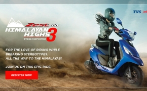 TVS Zest 110 Himalayan Highs Season 3 Announced