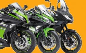 Kawasaki Updates Line up With 2017 Ninja 300, Ninja 650 and Versys 650