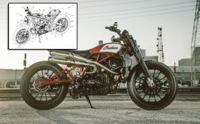 Indian Scout FTR 1200 Patent Design Revealed