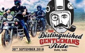 2018 Distinguished Gentleman's Ride Delhi On 30th Sep