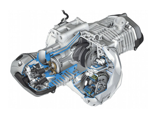 a boxer type engine (also known as flat twin engine) typically has  horizontally opposed pistons  the cylinders are present on two banks on the  opposite