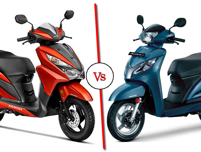 honda grazia vs honda activa 125 comparison shootout spec comparo