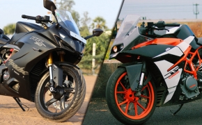 TVS Apache RR 310 Vs KTM RC 390- Comparo
