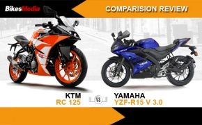 KTM RC 125 Vs Yamaha YZF-R15 V 3.0- Comparo